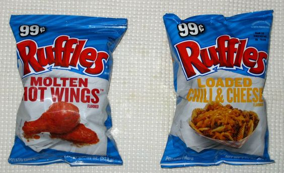 Ruffles Loaded Chili & Cheese and Molten Hot Wings Potato Chips ...