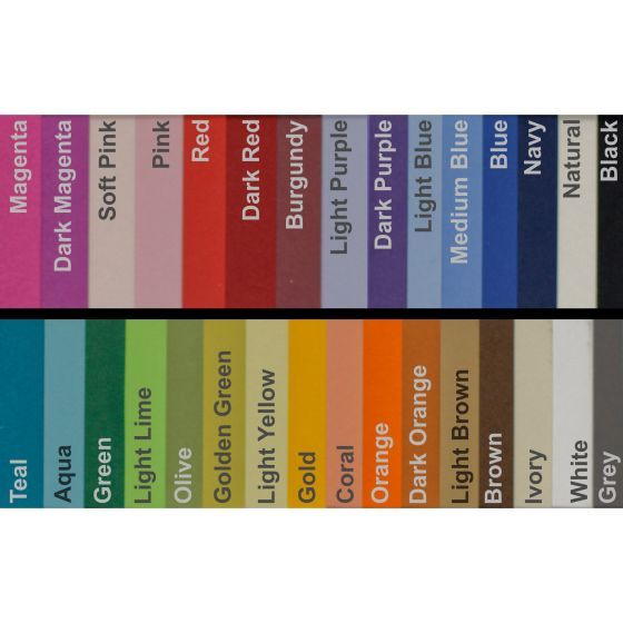Basis Colors 8 5 X 14 Legal Size Cardstock Paper 80lb Cover 100 Pk Orange Sheets Dark Magenta Light In The Dark
