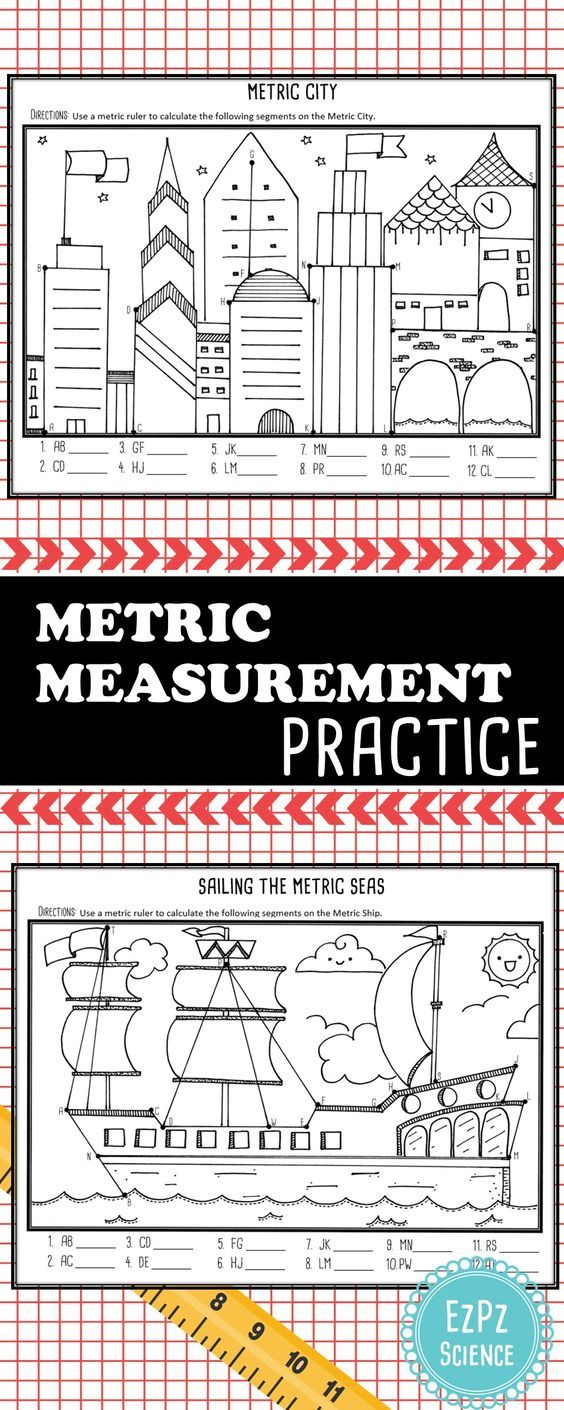 A Fun Way To Get Students To Practice Measuring Using The Metric System Measurement Activities Math Measurement Teaching Math Elementary [ 1410 x 564 Pixel ]