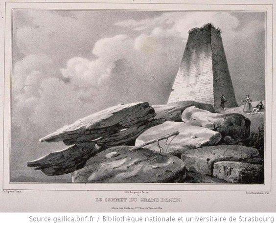 Le sommet du Grand Donon - 1837 François Jules Collignon