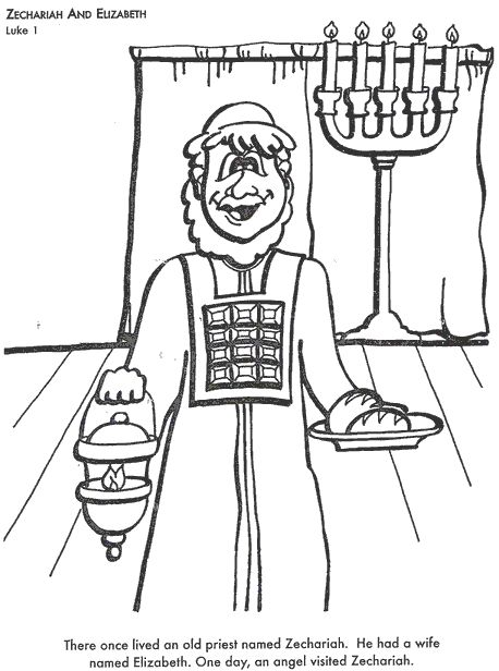 elizabeth bible coloring pages - photo#6