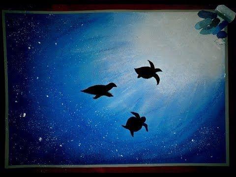 Beauty Of Ocean Soft Pastel Drawing Tortoise Under Water Youtube Oil Pastel Art Soft Pastel Art Pastel Art
