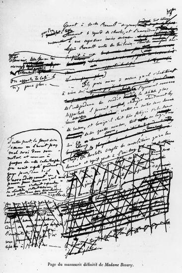 Gustave Flaubert, manuscrit de Madame Bovary