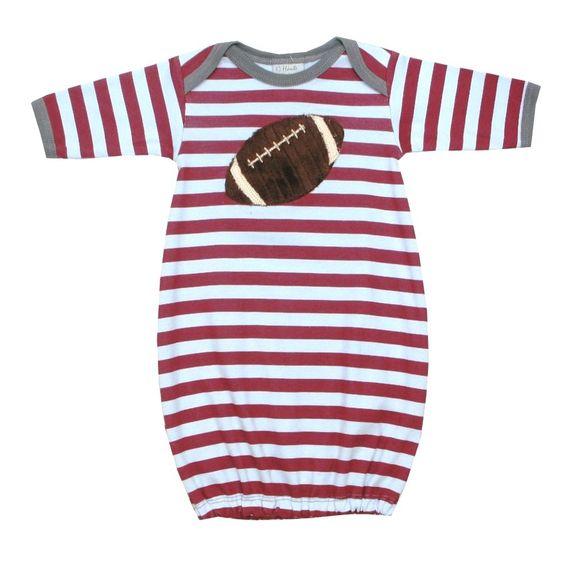 Bebe Mwah - Haute Baby Baby Boy Sleeping Gown (Touchdown), $36.00 (http://www.bebemwah.com/haute-baby-baby-boy-sleeping-gown-touchdown/)