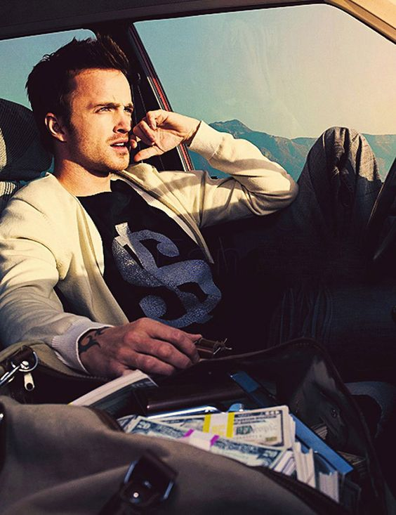 Aaron Paul - aka Jesse Pinkman. This poor boy(Jesse) for all the bad things that have happened to him I wish I could just give him a huge hug.