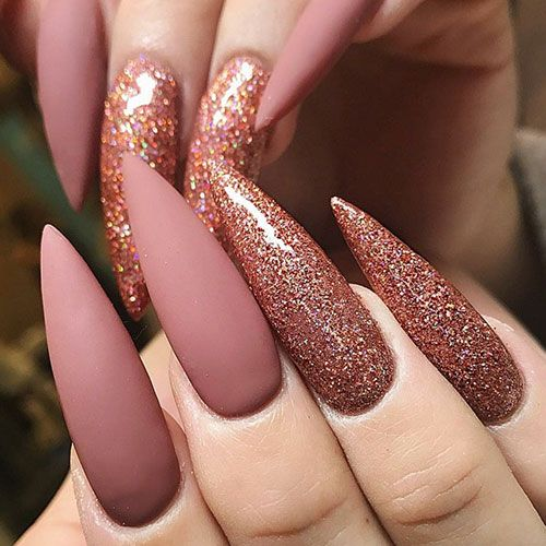 45 Best Fall Nail Polish Colors Cute Trending Ideas For 2020 In 2020 Glitter Nails Acrylic Acrylic Nails Stiletto Acrylic Nail Shapes