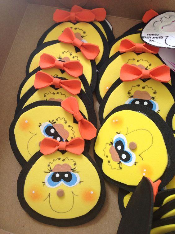 Abejas distintivos foamy pinterest for Ahuyentar abejas jardin