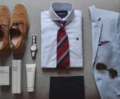 """suitandtiefixation: """" #outfit 16: summer outfit for a not-so-casual look, featuring my new tie from @kamakura_shirts and some of my favourite grooming products from @therefineryspa #me #suit #suitandtie #suitandtiefixation #menswear #menstyle..."""