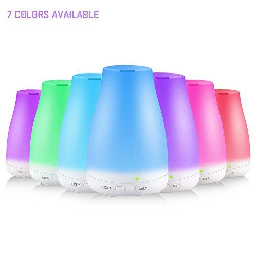 Ultrasonic Aroma Diffuser 7 Color Changing LED Lights Cool