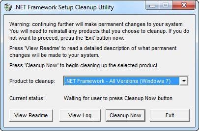 Microsoft .NET Framework Screenshot
