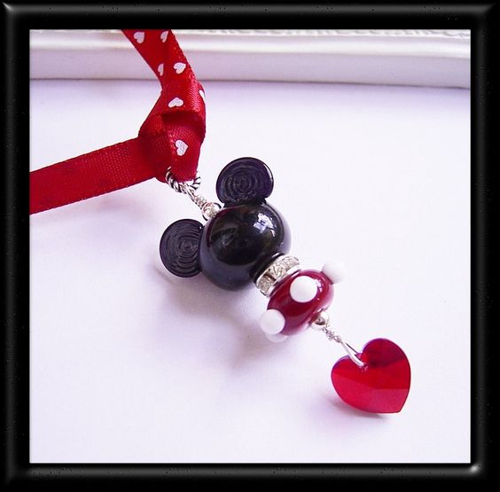 Mickey Mouse Rear Vision Mirror Charm Pendant Car Accessory Sterling Silver Designer Disney Style. $30.00, via Etsy.