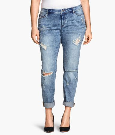 H&M H&M  Girlfriend Jeans $49.95 | Plus Size Fashion | Pinterest ...