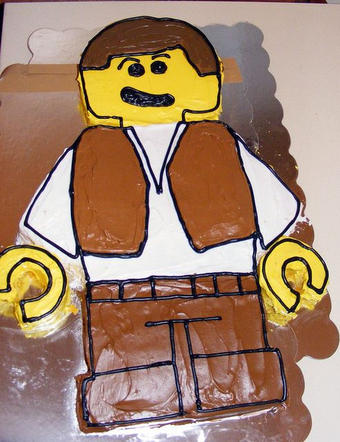 Instructions for creating a lego minifigure cake.  Joseph wants Chima for his birthday.