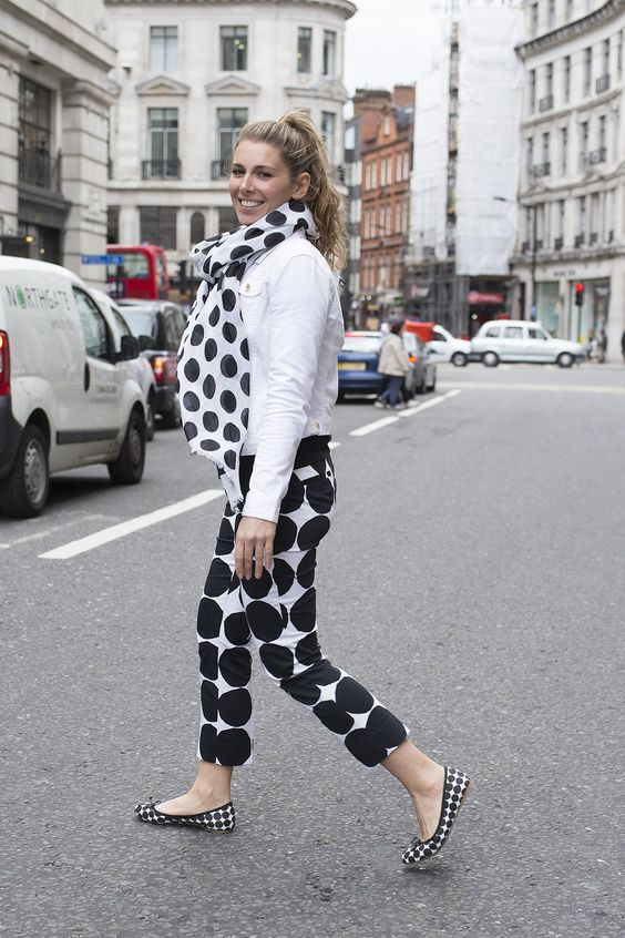 Marimekko for Banana Republic scarf, trousers and shoes as well as a Banana Republic jacket.