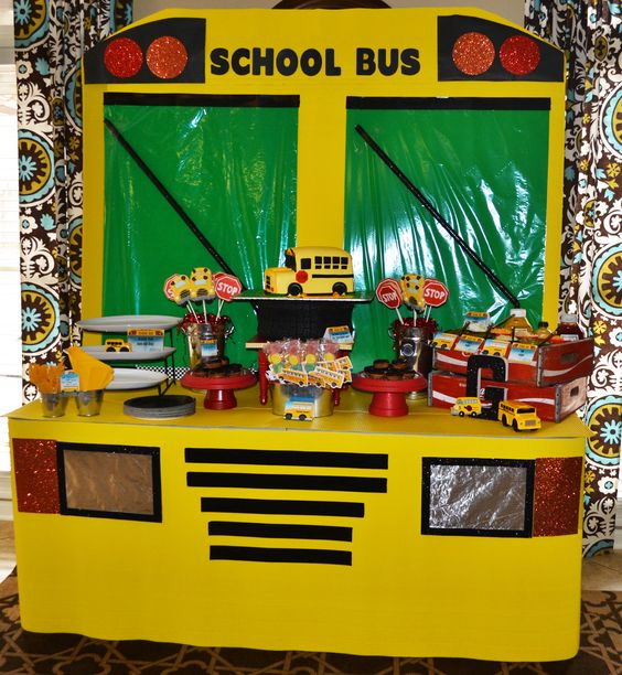 Trucks, Buses And School Bus Party On Pinterest