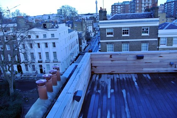 What a view! Final terrace pictures from our #londontownhouseproject #londonviews #liveinstall