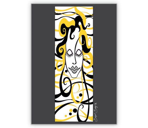 illustrierte Designer Grußkarte: Die Wellen Frau auf grau - http://www.1agrusskarten.de/shop/illustrierte-designer-gruskarte-die-wellen-frau-auf-grau/    00021_0_1857, Frau, Geburtstags Blumen, Grüssen, Illustration, Kunst, schenken, Traum, Wellen00021_0_1857, Frau, Geburtstags Blumen, Grüssen, Illustration, Kunst, schenken, Traum, Wellen