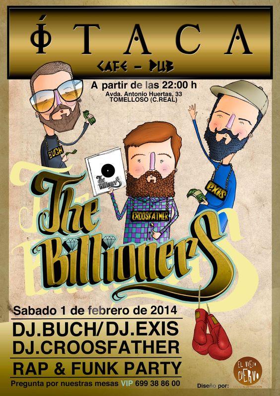 Cartel e ilustraciones de The Billioners