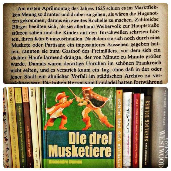 Seit zig Jahren im Buchregal, weil ich es soooo sehr als Kind liebte die Verfilmungen zu sehen. Zum Lesen der Musketiere (für mich waren es immer die muskeltiere) von Alexandre Dumas konnte ich mich jedoch nie aufraffen. Vielleicht liegt es an der übersetzung. Trotzdem liebe ich sie. Einer für alle und alle für einen. #buch #klassiker #musketiere #alexandredumas #mantelunddegen #Glimmerfee