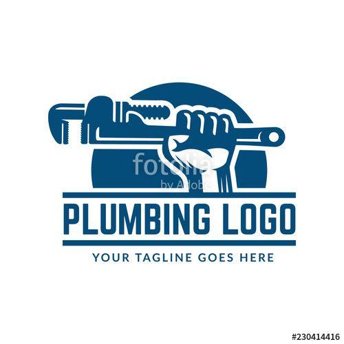 Vector Plumbing Logo Template Easy To Customize Plumbing Logo Plumbing Logo Design Logos