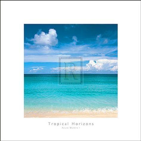 Art Print Tropical Horizons V By Adam Brock 12x12in Art
