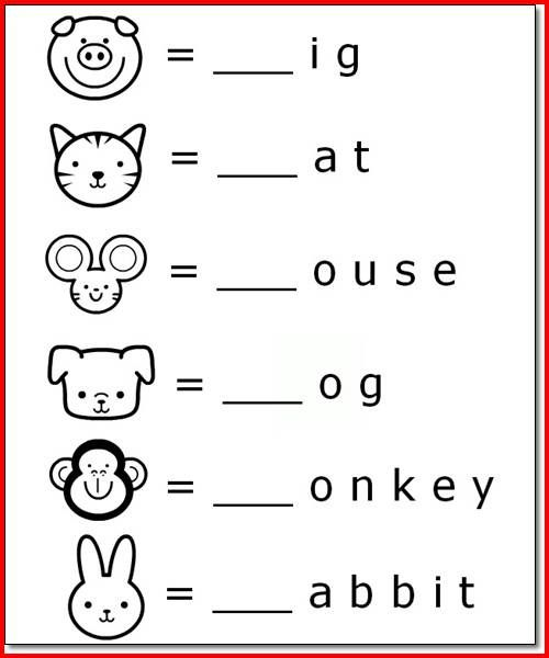 Printable Animal Name Activities For 5 Year Olds K5 Worksheets  Kindergarten Learning, School Worksheets, Learning Worksheets