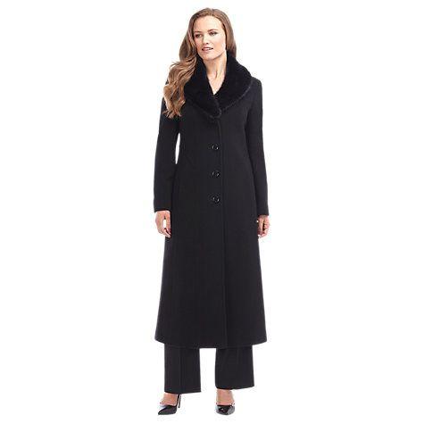 Buy Precis Petite Long Wool Coat, Black Online at johnlewis.com