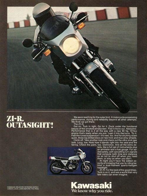 Kawasaki Z1-R Motorcycle 1978 Magazine Advert
