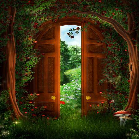 Beautiful magic door garden outer space future fairy for The magic fairy door