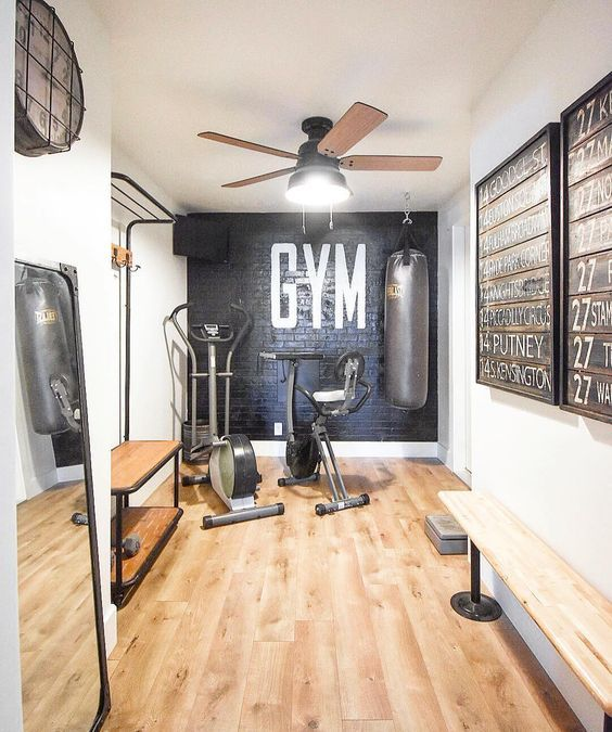 55 Modern Home Gym Inspiration Ideas In 2020 Workout Room Home
