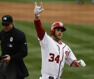 Bryce Harper homered in first two at-bats off Ricky Nolasco ...