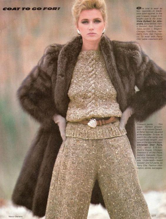 Vogue September 1981 Sable Fur Coat. | The Decade of Fur 1980&39s