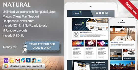 Breathe - Responsive Email + Online Builder Responsive email - free email newsletter templates word
