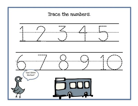 Traceable Numbers 1-10 Worksheets to Print | Activity Shelter ...