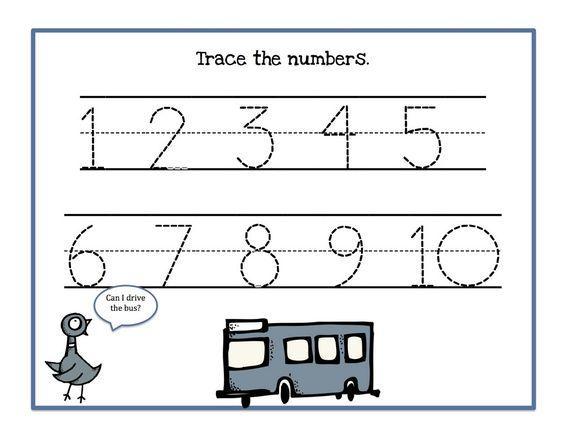 math worksheet : traceable numbers 1 10 worksheets to print  activity shelter  : Kindergarten Worksheets To Print
