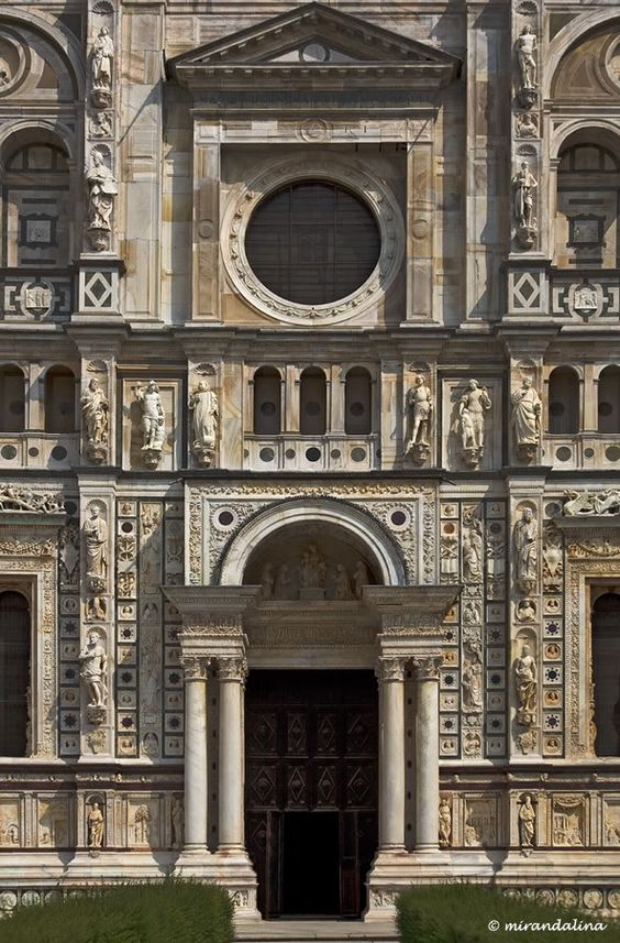 Certosa di Pavia...I'm don't know a lot about architecture, but this is undeniably beautiful