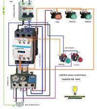 Esquemas eléctricos: control local y a distancia monofasico