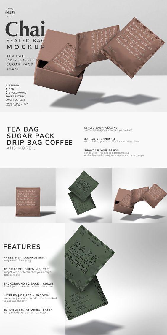 Download Chai Sealed Bag Mockup Bag Mockup Brand Guidelines Mockup
