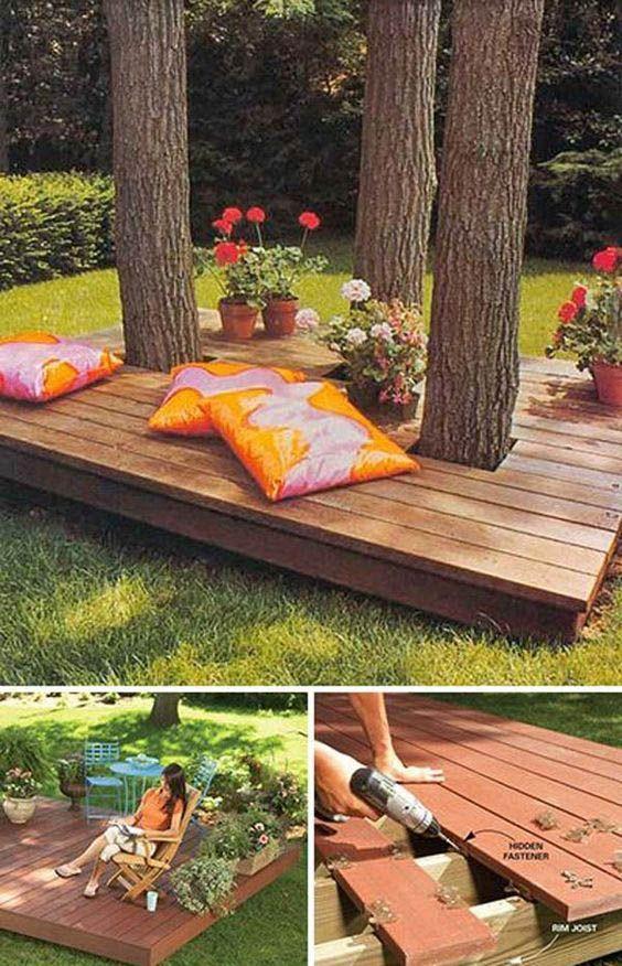 Outdoor Deck Ideas For Better Backyard Entertaining Backyard Landscaping Designs Building A Floating Deck Backyard
