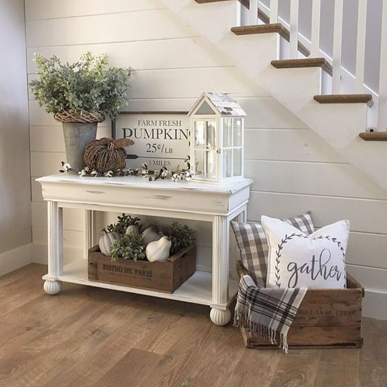 48 Awesome Modern Farmhouse Entryway Decorating Ideas Page 30 Of 47 Lovein Home Country Farmhouse Decor Diy Farmhouse Decor Farm House Living Room Living room decorating ideas farmhouse