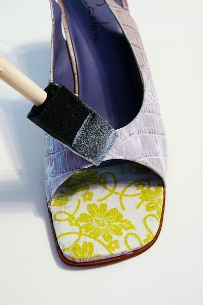 how to decoupage shoes
