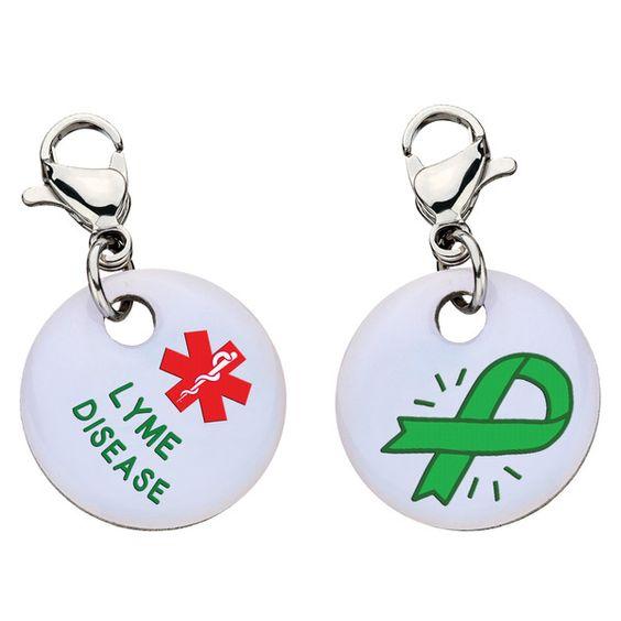 #LymeDisease Charm - Aluminum - Large
