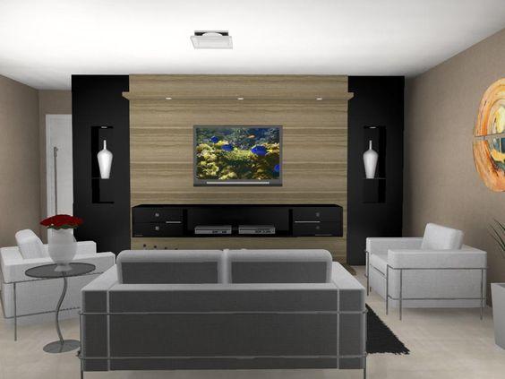 Sala neutra para apartamento