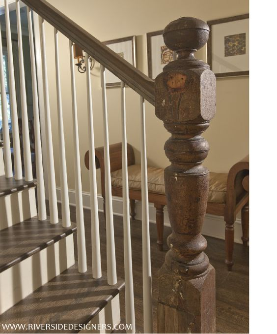 Reclaimed wood banister and stairs | Riverside Designers| Charleston, SC - Reclaimed Wood Banister And Stairs Riverside Designers