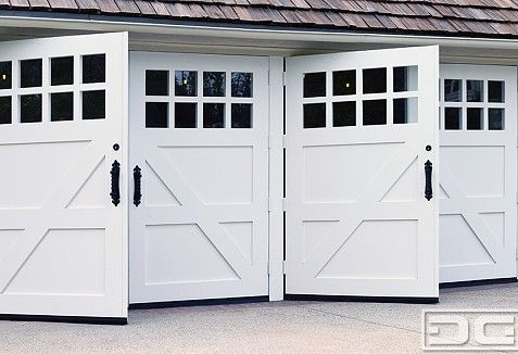 San Marino Custom Made Swinging Carriage Doors For Garage Conversions Dynamic Garage Door Projects Custom Wood Garage Doors Garage Doors Wood Garage Doors