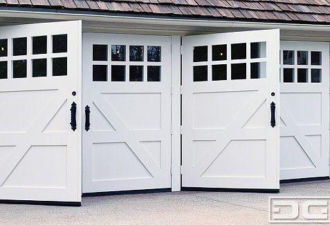 San Marino Custom Made Swinging Carriage Doors For Garage Conversions Dynamic Garage Door Projects Custom Wood Garage Doors Garage Doors Wood Garage Doors