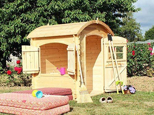 Soulet Maisonnette Bois Patty En 2020 Cabane Bois Enfant Cabane Bois Maisonnette En Bois