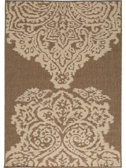 Flachgewebe Teppich Dawn Lace Braun