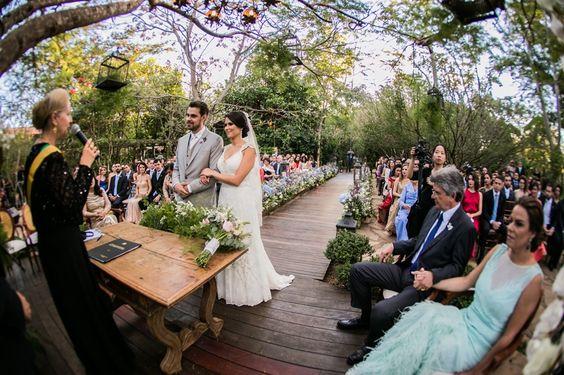 Casamento ao ar livre: cerimônia civil