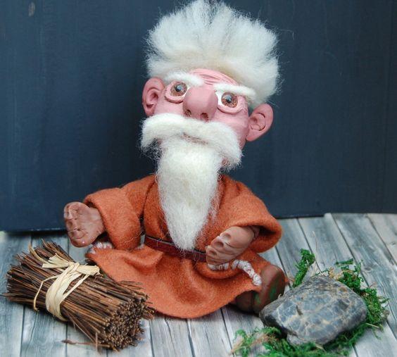 OOAK Niedlicher kleiner Zwerg,Gnom,Dwarf,Fairytale, Polymer Clay,Fimo,Premo,von Luthiannasworld auf Etsy